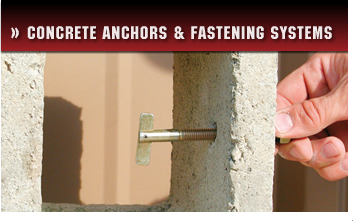 Concrete Anchors and Fastening Systems